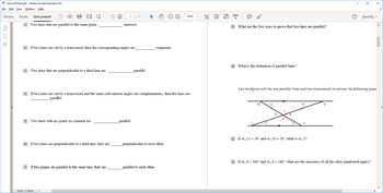 Geometry Chapter 3 Quizzes and Test (Jurgensen Geometry)