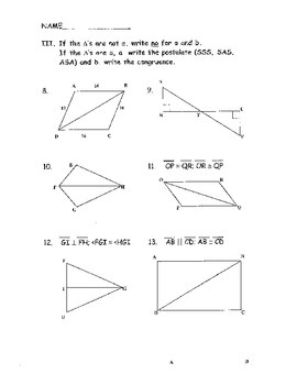Geometry Chapter 4 Bundle: Congruent Triangles