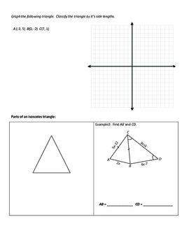 Geometry Notesheets: Chapter 4 Proving Triangles Congruent