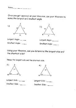 Triangle Inequality: Geometry Chapter 6 Bundle
