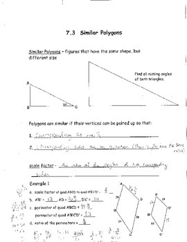 Geometry Chapter 7 Bundle: Similar Polygons