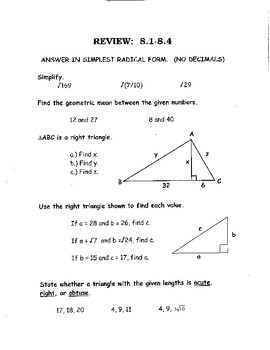 geometry worksheet 8 1 similar right triangles answer key geotwitter kids activities. Black Bedroom Furniture Sets. Home Design Ideas