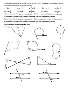 Geometry Chapter Review - Logic & Polygon Angle Measures