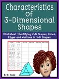 Geometry - Characteristics of 3 Dimensional Shapes