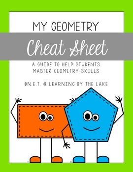 Geometry Cheat Sheet {freebie!!}