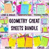Geometry Cheat Sheet Bundle