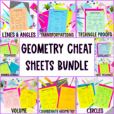 Geometry Cheat Sheets Complete Bundle