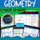 Geometry Cheat Sheets: Logic, Parallel lines, Circles, Quads, Polygons, etc.
