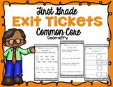 First Grade Geometry Exit Tickets
