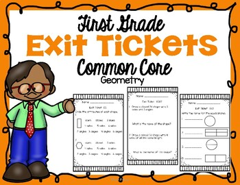 First Grade Math Exit Tickets Geometry