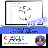Geometry:   Chord, Tangent, & Secant Segments Mini Formati