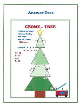 Geometry Christmas Math Activity Angles Oh GeomeTREE