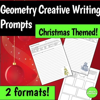 Geometry Christmas Writing Prompts