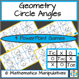 Geometry Circle Angles Tic Tac Toe PowerPoint Games