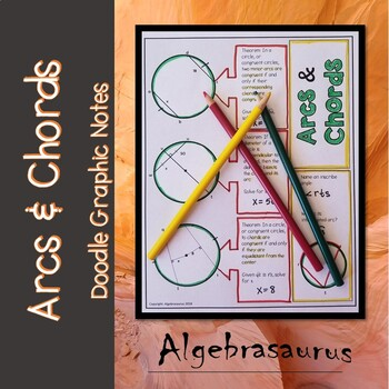 Geometry: Circle Arc & Chord Theorems Doodle Notes or Graphic Organizer