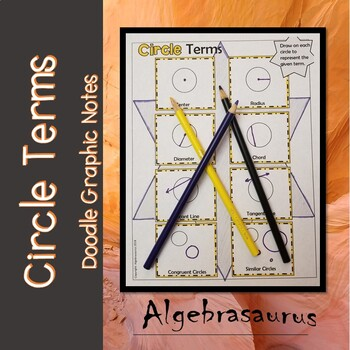 Geometry: Circle Terms Doodle Notes or Graphic Organizer