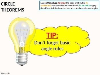 Circle Theorems 1 - Rules 1 -4 (+ lots of resources)