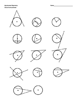 Geometry Circle Theorems