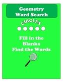 Geometry Circle Word Search