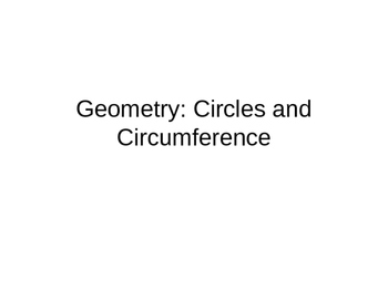 Geometry: Circle and circumstance ( grade 6-9)