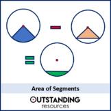 Circles 4 - Area of Segments (+ worksheet)