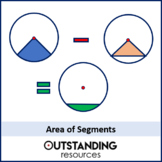 Geometry: Circles 4 - Area of Segments (+ worksheet)