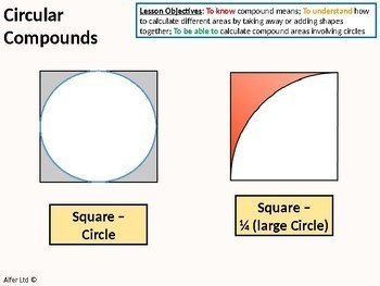 Circles 5 - Compound Area involving Circles (circular compounds)