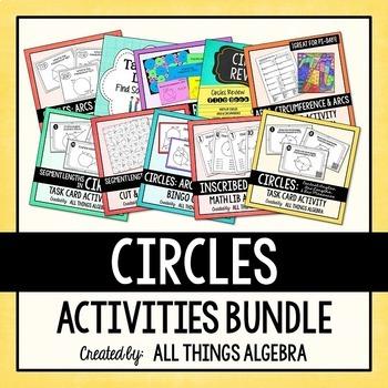 Geometry: Circles Activities Bundle
