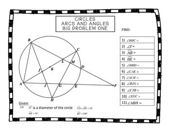Geometry Circles Arcs and Angles Big Problems