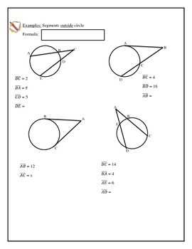 Geometry Circles, Secant and Tangent Properties, Area of Sector, Length of Arc