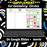 Geometry Circles Supplement for Special Ed Digital Activit