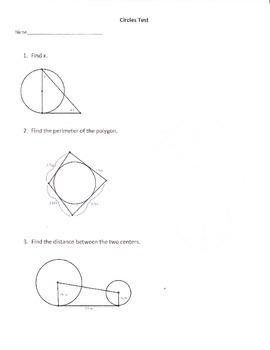 Geometry Circles Test