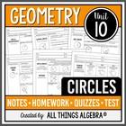 Circles (Geometry - Unit 10)