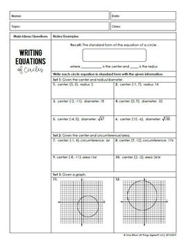 Circles (Geometry Curriculum - Unit 10) by All Things ...