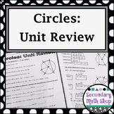Circles - Geometry Circles Unit Review