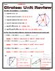 Circles - Geometry Circles Unit Review