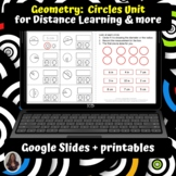 Geometry Circles Unit for Special Ed for google classroom