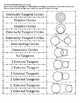 Geometry Circles and Common Tangents Sort