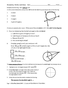 Geometry: Circles and Lines