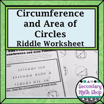 circles geometry circumference and area of circles riddle worksheet. Black Bedroom Furniture Sets. Home Design Ideas