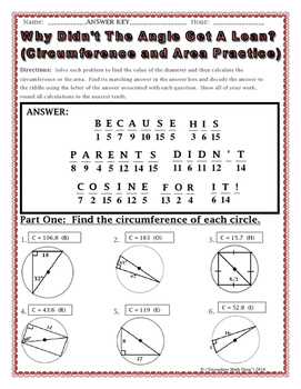 math worksheet : geometry circumference and area of circles riddle worksheet : Circumference Worksheet