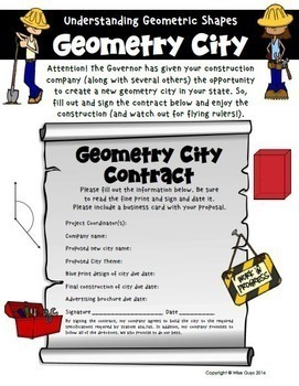 End of Year Math Geometry City Project
