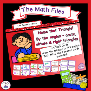 Geometry - Classify Triangles by Angles only Task Cards