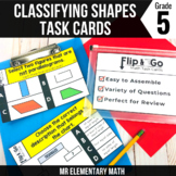 Geometry Classifying 2D Shapes Math Task Cards