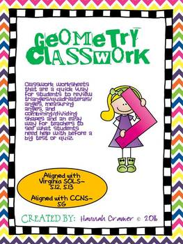 Geometry Classwork