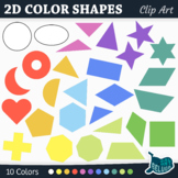 Geometry Clip Art: 21 Basic 2D Shapes – Commercial