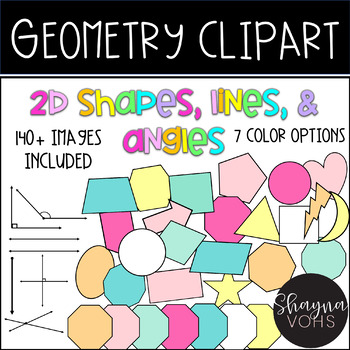 Geometry Clip Art {2D Shapes, Lines, and Angles}