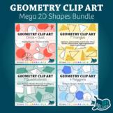 Geometry Clip Art: Mega 2D Shapes Bundle – Commercial