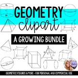 Geometry Clip Art -  Middle School Math and High School Math - GROWING RESOURCE