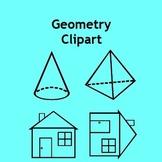 Geometry Clip Art - Shapes, Nets, Pattern Blocks & Transformations